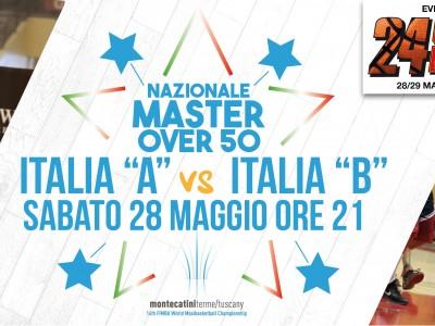 MAIN EVENT: NAZIONALE MAXI BASKET OVER 50 - SELEZIONE B VS ITALIA BASKET VINTAGE